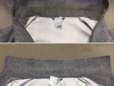 シミ抜き事例byインスタグラム【ジップアップパーカー襟の皮脂汚れのシミ抜き】