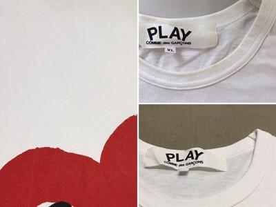 シミ抜き事例byインスタグラム【コムデギャルソン(COMME des GARCONS)Tシャツの襟汚れのシミ抜き】
