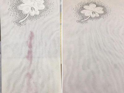 シミ抜き事例byインスタグラム【Tシャツ(赤ワイン)のシミ抜き】
