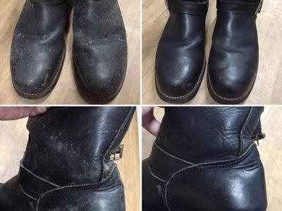 シミ抜き事例byインスタグラム【ブーツ(カビ汚れ)のシミ抜き&クリーニング】