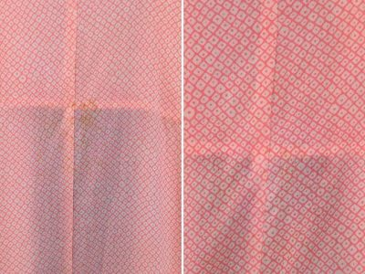 シミ抜き事例byインスタグラム【着物の襦袢の黄変シミ抜き】