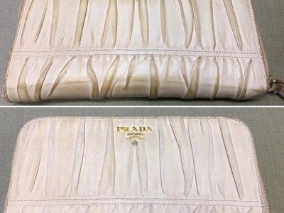 シミ抜き事例byインスタグラム【プラダ(PRADA)の財布皮脂の黒ずみのリカラー】