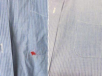 シミ抜き事例byインスタグラム【Yシャツのインクのシミ抜き】