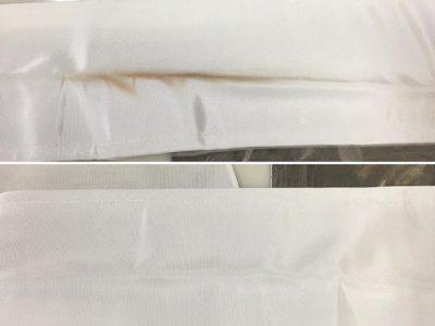 シミ抜き事例byインスタグラム【着物の襟ファンデーションのシミ抜き】