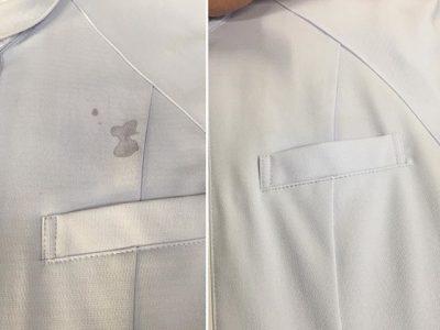 シミ抜き事例byインスタグラム【白衣のボールペンのインクのシミ抜き】