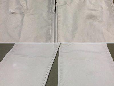 シミ抜き事例byインスタグラム【綿ズボンの汚れシミ抜き】