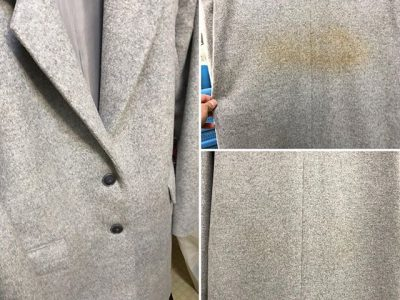 シミ抜き事例byインスタグラム【アンゴラのオーバーコートの色移りのシミ抜き】