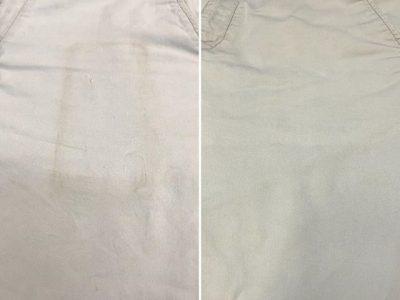シミ抜き事例byインスタグラム【綿ズボンのポケットのシミ抜き】