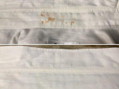 シミ抜き事例byインスタグラム【Yシャツの襟汚れ・サビのシミ抜き】