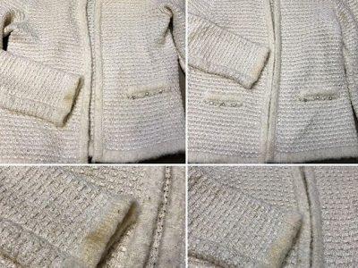シミ抜き事例byインスタグラム【ジャケットの袖口汚れのシミ抜き】