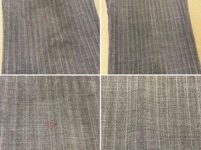 シミ抜き事例byインスタグラム【スーツのズボン朱肉のシミ抜き】