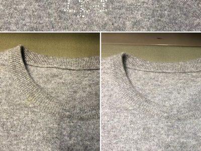 シミ抜き事例byインスタグラム【ルシアンペラフィネのセーターのシミ抜き】