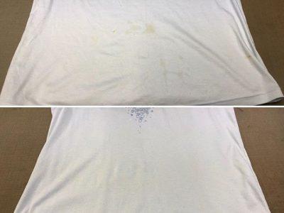 シミ抜き事例byインスタグラム【Tシャツのシミ抜き】
