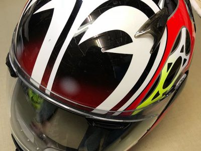 シミ抜き事例byインスタグラム【バイク用ヘルメットのクリーニング】消臭加工もオススメ♪