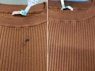 シミ抜き事例byインスタグラム【セーターについたマスカラのシミ抜き】