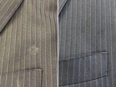 シミ抜き事例byインスタグラム【スーツの接着剤のシミ抜き】
