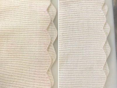 シミ抜き事例byインスタグラム【セーターの袖口朱肉のシミ抜き】