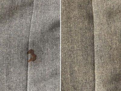 シミ抜き事例byインスタグラム【スーツのズボンについた血液のシミ抜き】