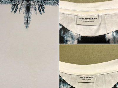 シミ抜き事例byインスタグラム【マルセロバーロン(Marcelo Burlon)Tシャツの襟汚れのシミ抜き】