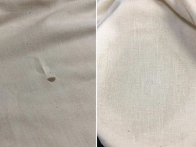 シミ抜き事例byインスタグラム【シーツの血液のシミ抜き】
