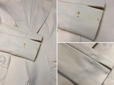 シミ抜き事例byインスタグラム【ジャケットについた血液のシミ抜き&クリーニング】