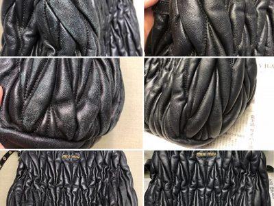 シミ抜き事例byインスタグラム【ミュウミュウ (Miu Miu) のバッグのスレ直し】