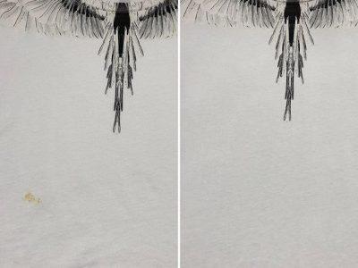 シミ抜き事例byインスタグラム【マルセロバーロン(Marcelo Burlon)Tシャツの食べ物汚れのシミ抜き】