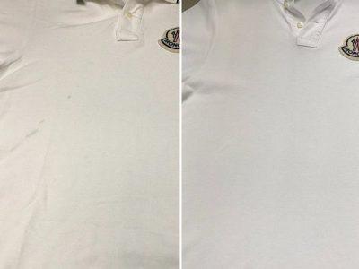 シミ抜き事例byインスタグラム【モンクレールポロシャツのシミ抜き&クリーニング】