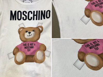 シミ抜き事例byインスタグラム【モスキーノ(Moschino)のTシャツのシミ抜き】