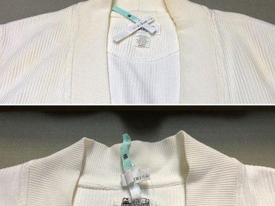 シミ抜き事例byインスタグラム【綿カーディガンの襟の皮脂汚れのシミ抜き】
