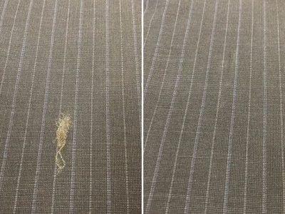 シミ抜き事例byインスタグラム【スーツについたセメダイン(接着剤)のシミ抜き】
