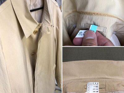 シミ抜き事例byインスタグラム【コートの襟汚れのシミ抜き】