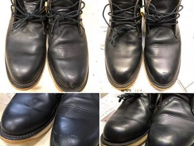シミ抜き事例byインスタグラム【レッドウィング(RedWing)ブーツのクリーニング色修正】