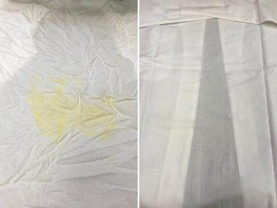 シミ抜き事例byインスタグラム【ダボシャツの色移りのシミ抜き】