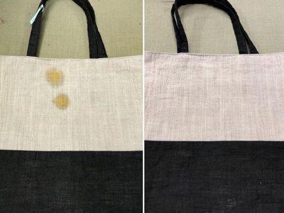 シミ抜き事例byインスタグラム【鞄、カレーのシミ抜き】
