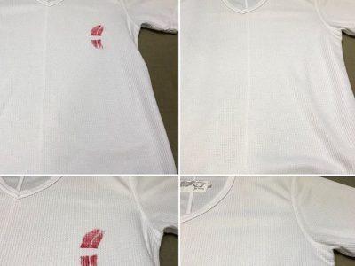 シミ抜き事例byインスタグラム【アズール(AZUL)Tシャツの色付きリップのシミ抜き】