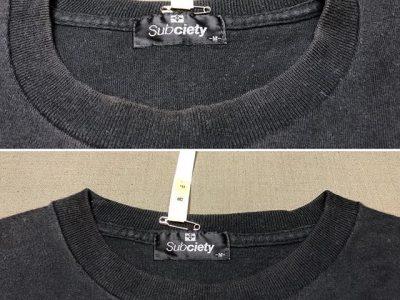 シミ抜き事例byインスタグラム【Tシャツの襟元色褪せ修正】
