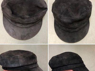 シミ抜き事例byインスタグラム【ハンチング帽(スウェード)のシミ抜き&色褪せ修正事例】