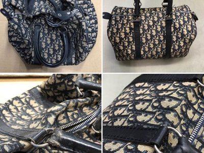 シミ抜き事例byインスタグラム【クリスチャン・ディオール(Christian Dior)鞄の復元 クリーニング&メンテナンス】