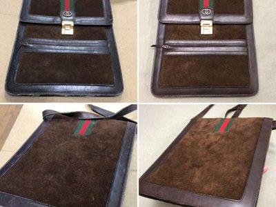シミ抜き事例byインスタグラム【グッチ(GUCCI)鞄の復元 クリーニング&メンテナンス】