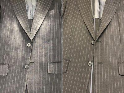 シミ抜き事例byインスタグラム【スーツのシミ抜き】