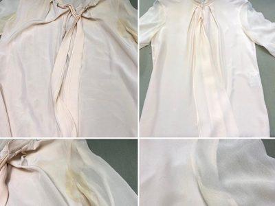 シミ抜き事例byインスタグラム【シルクのブラウス汗ジミのシミ抜き】