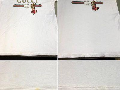 シミ抜き事例byインスタグラム【グッチ(GUCCI)のTシャツのシミ抜き&クリーニング】