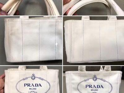 シミ抜き事例byインスタグラム【プラダ(PRADA)の鞄(バッグ)色移りのシミ抜き&クリーニング】