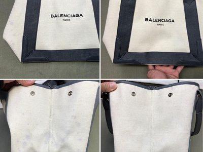 シミ抜き事例byインスタグラム【バレンシアガ(balenciaga)のトートバッグぶどうジュースのしみ抜き】