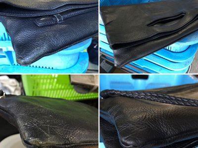 シミ抜き事例byインスタグラム【トートバッグの皮革部分の色修正】