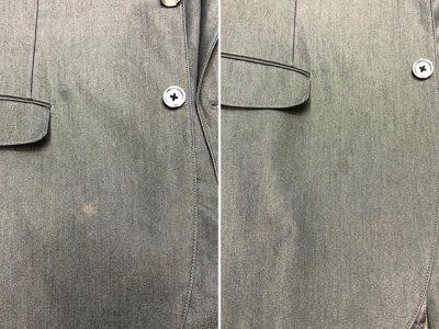 シミ抜き事例byインスタグラム【ジャケットの脱色の色修正】