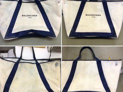 シミ抜き事例byインスタグラム【バレンシアガ(balenciaga)のトートバッグの色移りのしみ抜き】