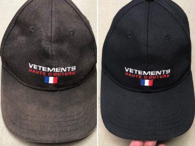 VETEMENTS(ヴェトモン)のキャップの色褪せ修正!~型崩れまで修正します~
